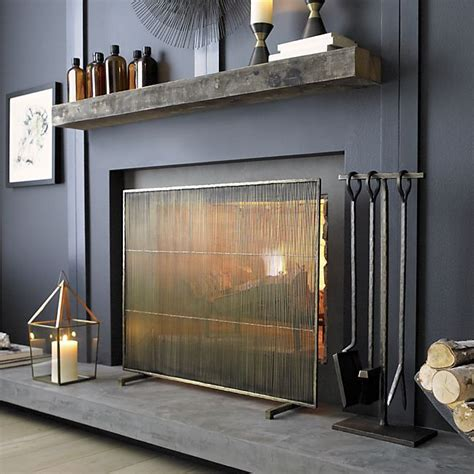 Screen Fireplace by 10 Gorgeous Fireplace Screens For Every Home