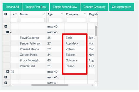 angular ui layout tutorial javascript how to get data of grouped column in angular