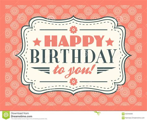 typography gifts happy birthday card typography letters font type stock illustration image 62246399