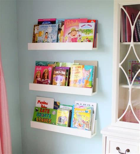 cute minimalist bookshelves for kids room