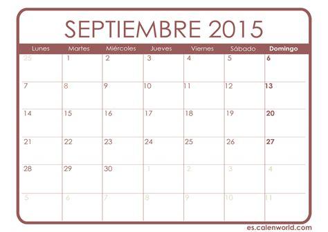 Calendario De Septiembre 2015 Calendario Septiembre 2015 Calendarios Para Imprimir