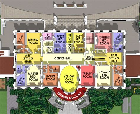 East Wing Floor Plan by Second Floor White House Museum