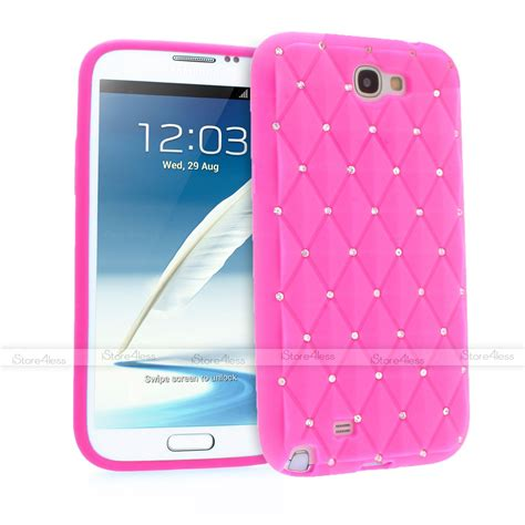 Silicon Casing Softcase Standing Samsung Note 2 N7100 sparkle bling soft silicone for samsung galaxy note 2 n7100 ebay