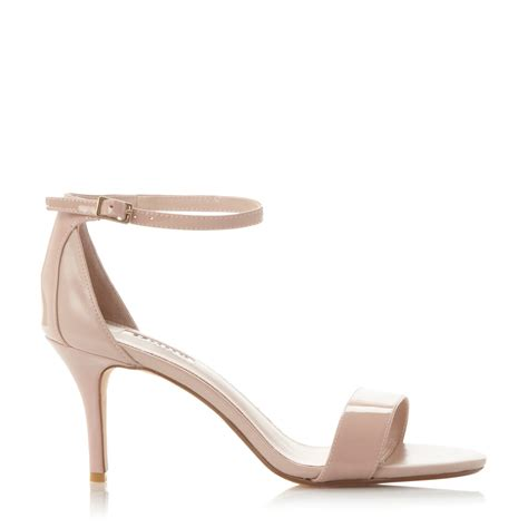 pink mid heel sandals dune mariee two part mid heel sandals in pink lyst