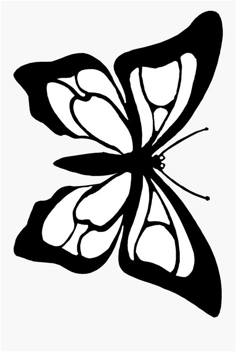 Butterfly Cutout Coloring Page - Butterfly Black White To