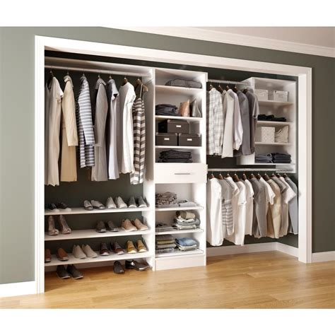 White Closet Shelving Systems by Home Decorators Collection Assembled Reach In 15 In D X