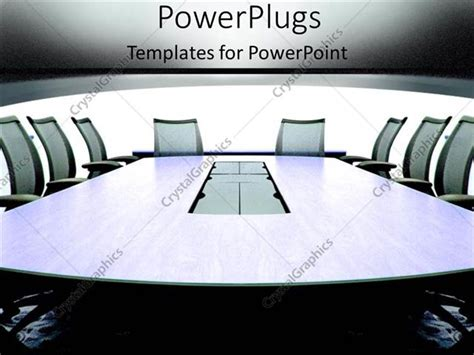 Powerpoint Template Grey Conference Room In An Office Building With Chairs For Meeting On Team Team Meeting Powerpoint Templates