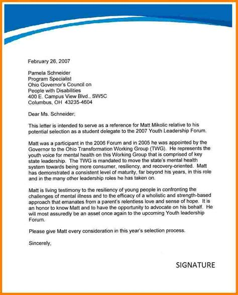 sle recommendation letter template 28 images nursing