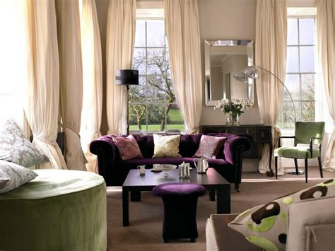 green and purple home decor another living room decoration idea with purple sofa i
