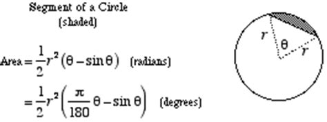 area of a section of a circle formula mathwords area of a segment of a circle