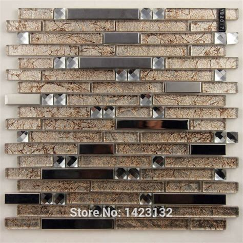 metal wall tiles kitchen backsplash glass tile backsplash stainless steel kitchen wall sticker yb2017 glass metal blend