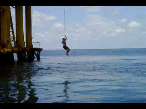 swing rope transfer offshore rope swing youtube