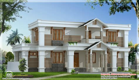 new house plans modern mix sloping roof home design 2650 sq feet