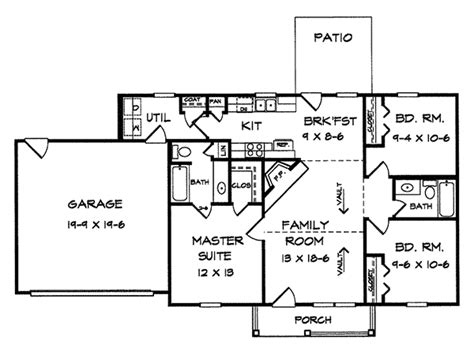 large one story house plans kircher one story home plan 076d 0019 house plans and more