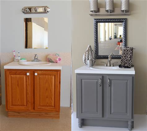 Bathroom Updates You Can Do This Weekend Bath Diy Painting Bathroom Vanity Before And After