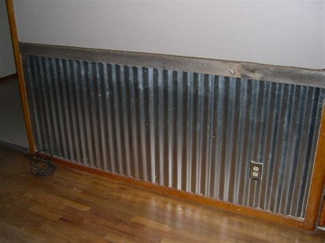 Tin Wainscoting corrugated metal wainscoting pictures myideasbedroom