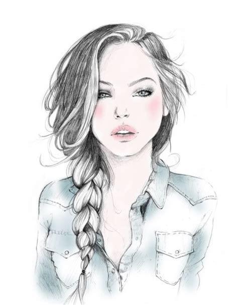 fashion illustration hair blue fashion fashion illustration