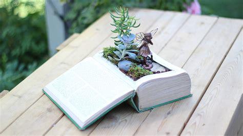 Book Garden by Diy Vintage Book Into Garden