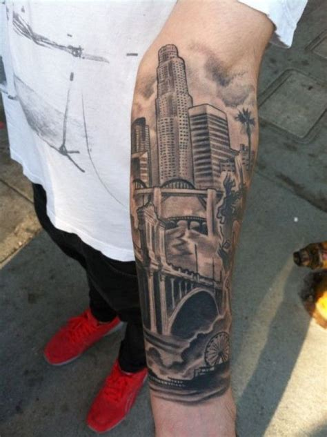 la skyline tattoo 28 beauitful forearm ideas for and