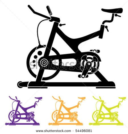 clip on fan for spin bike indoor cycling bike clip art cliparts