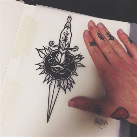 tattoo meaning dagger through rose 94 best t rose dagger tattoo images on pinterest