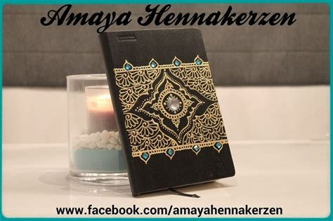 henna pattern notebook notebook decorated with henna patterns henna candles by