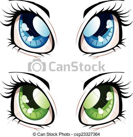 Small Home Plans Free by Clip Art Vector Of Anime Style Eyes Set Of Manga Anime