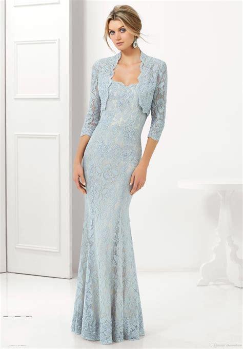 light blue mother of the bride dress 2015 mermaid light blue lace mother of the bride dresses