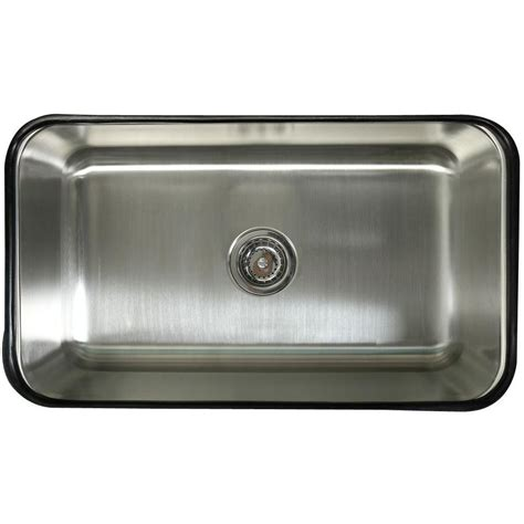 Brass Kitchen Sink Kingston Brass Undermount Stainless Steel 30 In 0 Single Bowl Kitchen Sink In Satin