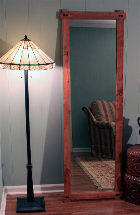 rustic cherry full length or floor mirror gloss clear