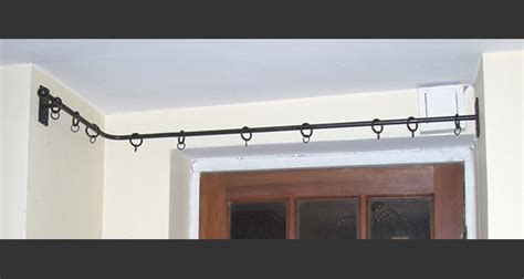 l shaped bay window curtain pole hand made wrought curtain poles