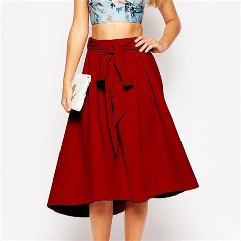 swing skirts for sale solid swing skirt with sashes hot sale hepburn wind