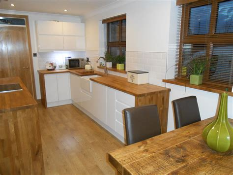 kitchen worktop ideas white gloss kitchen oak worktop search