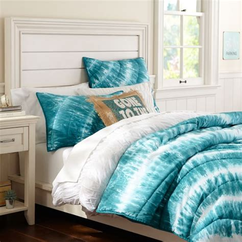 tye dye comforter surf saying grain sack pillow cover pbteen