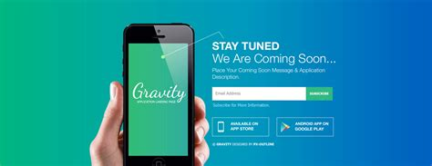 Gravity Mobile App Landing Page Responsive Html By Pxoutline Themeforest Iphone App Landing Page Template