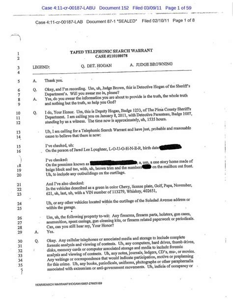 Dna Search Warrant The Gallery For Gt Search Warrant Sle