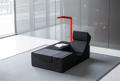 designboom furniture moon chaise lounge by lina can be used as table sofa or chair