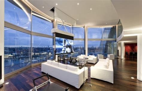 modern penthouses rent this 6 200 square foot modern london penthouse for 100 000 a month homes of the rich