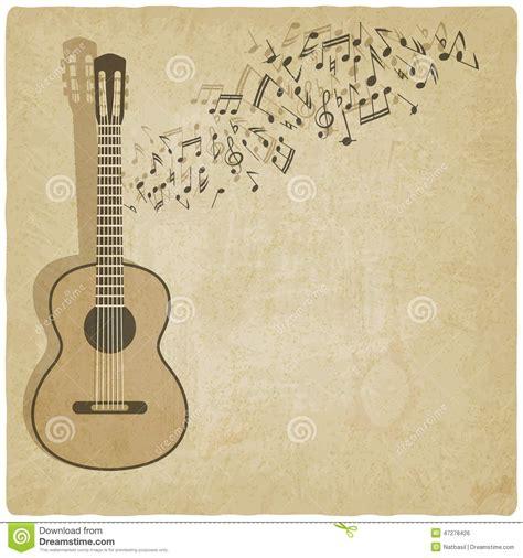 imagenes retro guitar tab vintage music guitar background stock vector