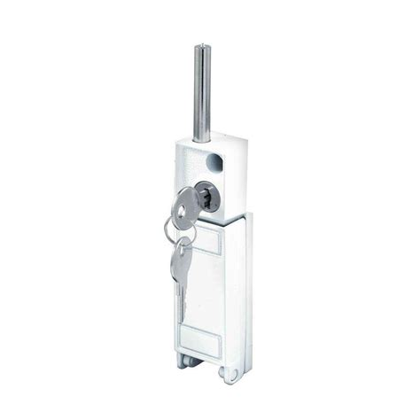 Prime Line White Patio Door Keyed Bolt Lock U 9919 The Keyed Patio Door Lock