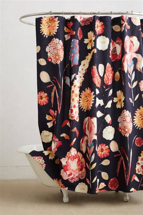 Bold Floral Curtains 17 Best Decorating Around School Bathroom Tile Images