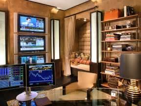 Technology Office Decor by Study Reflects World Travel Hgtv