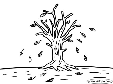 Tree Autumn Leaves Coloring Page Fall Tree Coloring Page