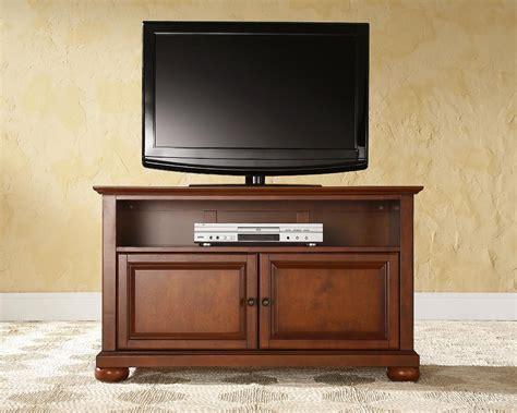 upholstery alexandria crosley furniture alexandria 42in tv stand in classic cherry