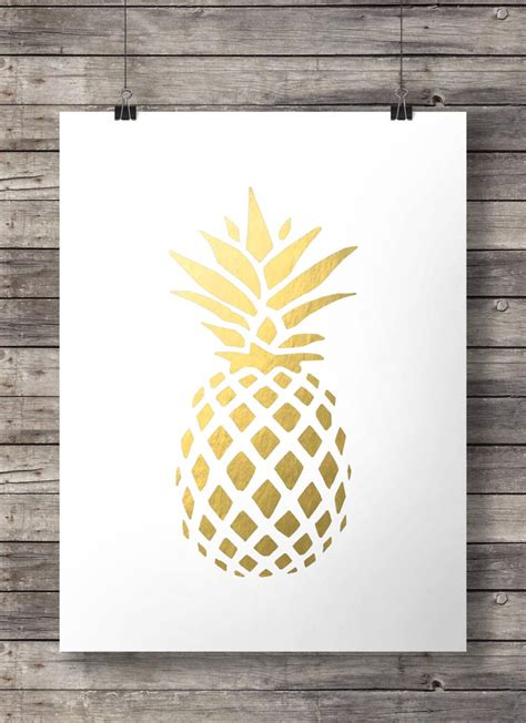 Easy Art And Craft Ideas For Home Decor goldene ananas print tropischen ananas gold ananas drucken