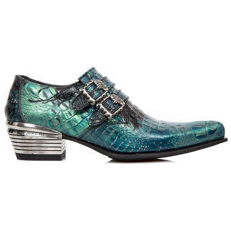snake shoes m 7960 c6 teal green snakeskin effect mens new rock shoes