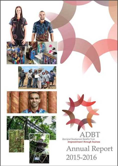 shoot annual 2016 annuals 2016 adbt annual report aboriginal development benefits trust