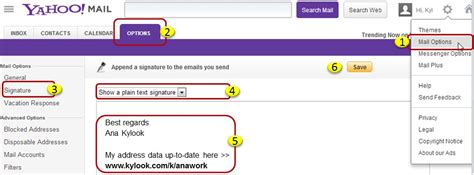 email yahoo not loading yahoo how to change the email signature kylook faq