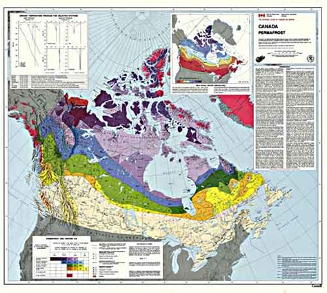 permafrost map  canada national snow  ice data center
