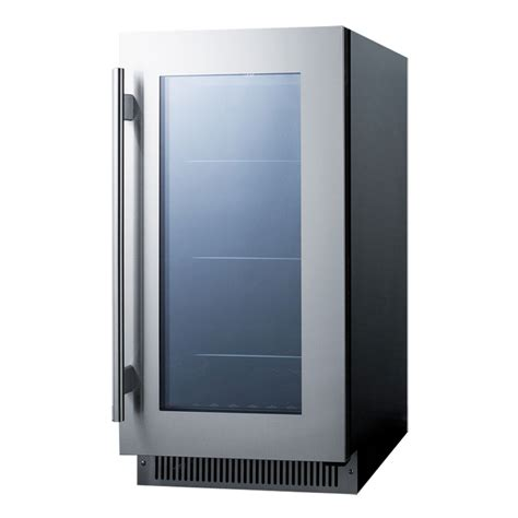 under cabinet beverage refrigerator summit cl181wbv beverage refrigerator black stainless